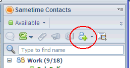 Add Sametime Contacts