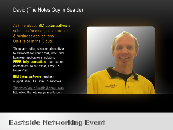Linkedin eastside networking event profile of The Notes Guy In Seattle