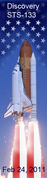 Space Shuttle with American Flag