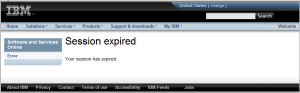 IBM Passport Advantage error message switching users