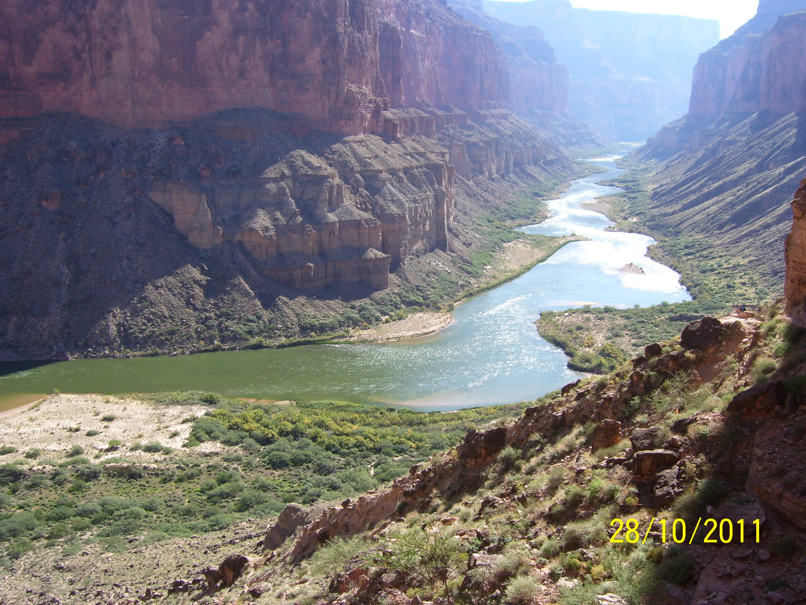View of Grand Canyon from Nankoweap graineries