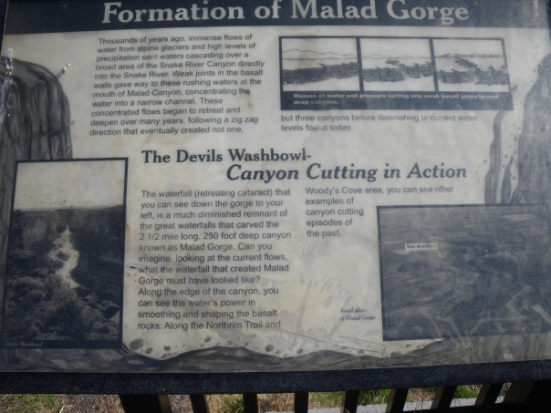 Sign at Malad Gorge