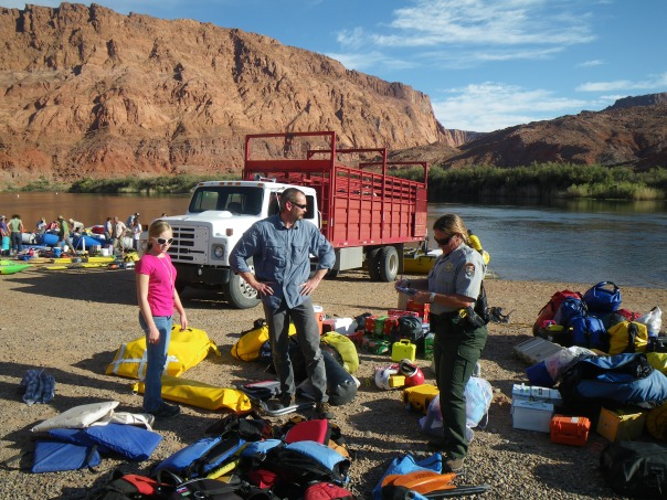 Park Ranger Inspects every Lifejacket and other required gear