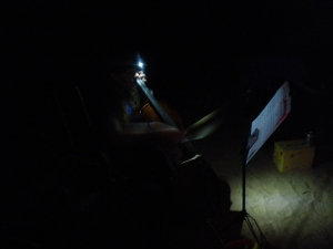 Cello by headlamp