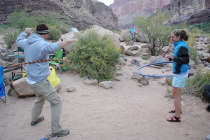 Hula hoops in the Grand Canyon