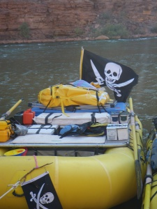 Pirate Raft in the Grand Canyon on Halloween