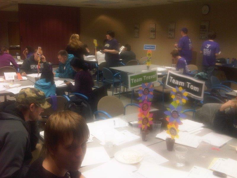Phone bank volunteers working hard