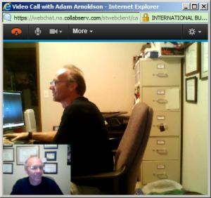 SmartCloud Sametime Video Chat window