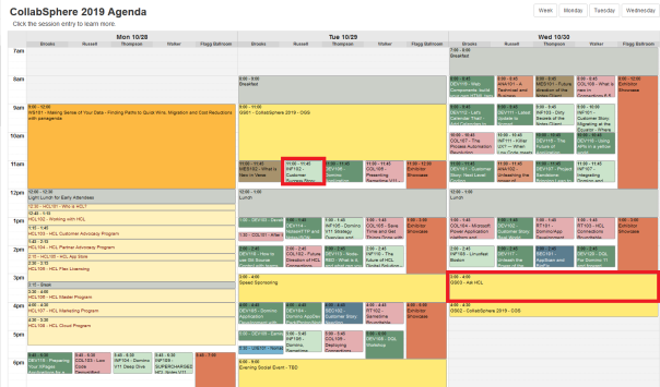 Collabphere Schedule